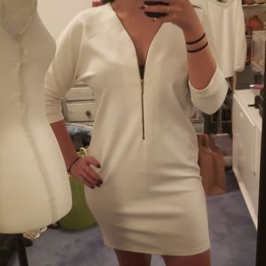 Straight line sexy but subtle white dress